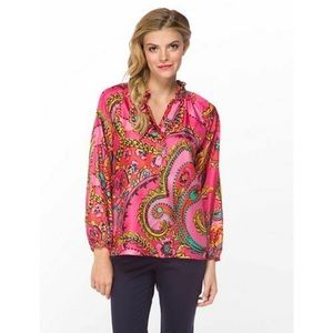 Lilly Pulitzer Elsa Blouse in Follow The Pink Road